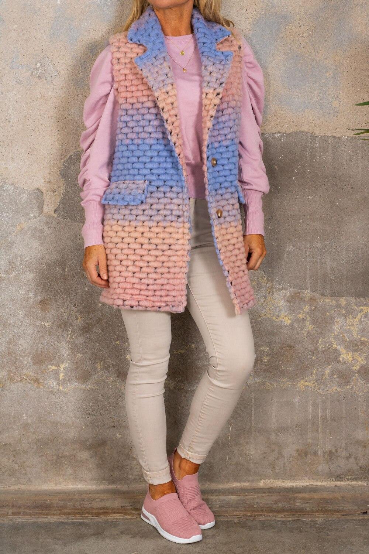 Athena West - Lys rosa / blå