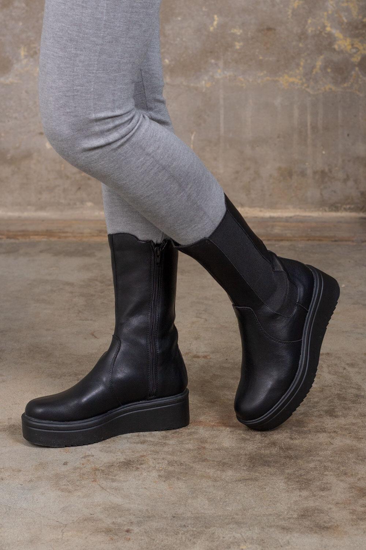 Støvler - Høyt skaft - Svart