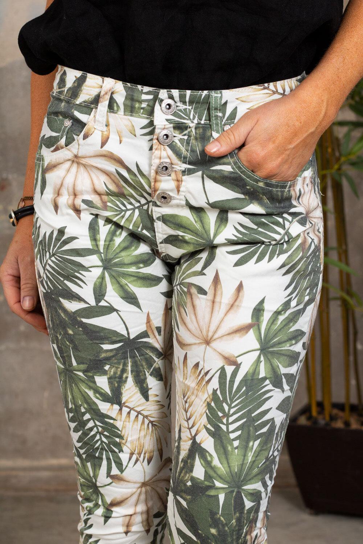 Bukse 90089 - Palmblad - Cream / Khaki