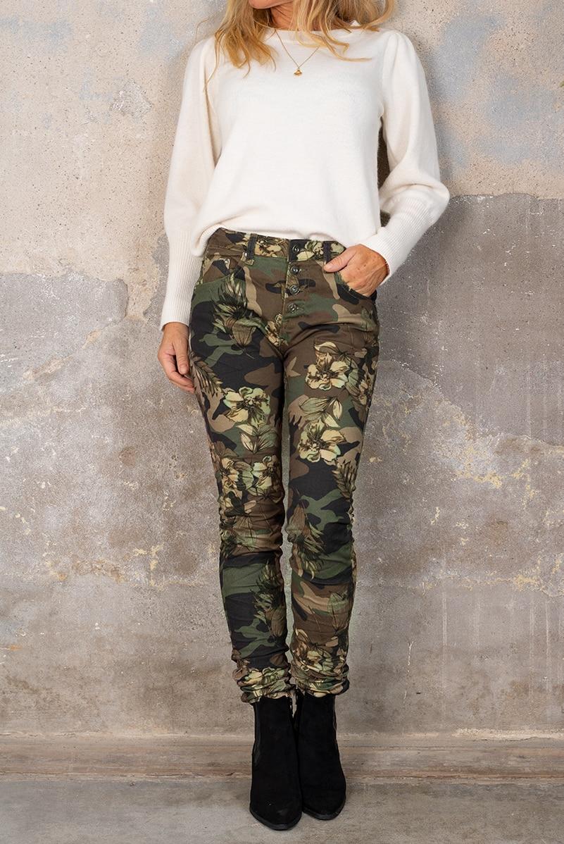 Byxor 90089-F332 - Camouflage Blommor Ny hel