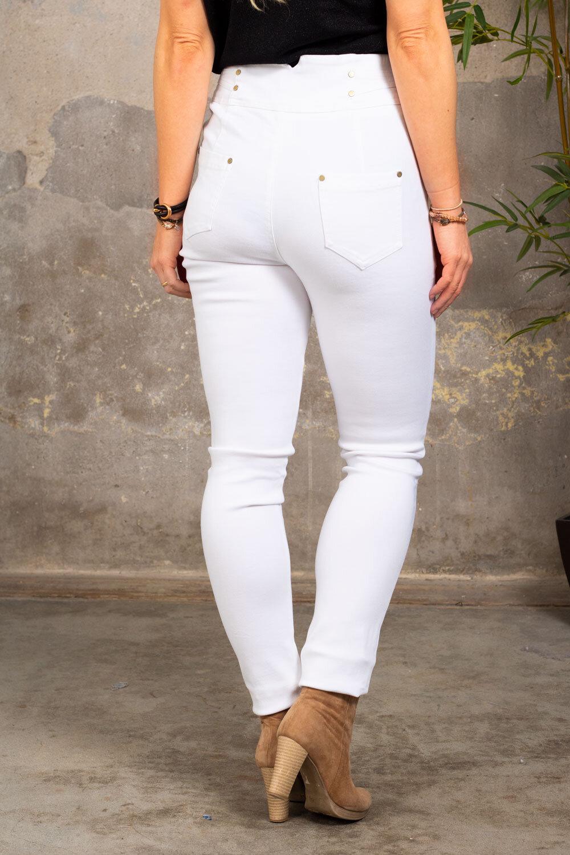 Bukse med gulldetaljer - NL83045 - Hvit