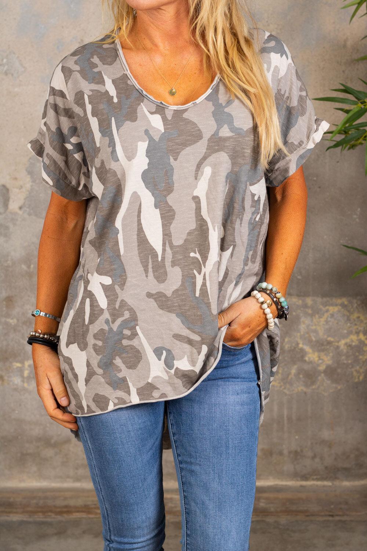 Cajsa t-skjorte - Kamuflasje - Beige
