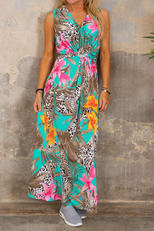 Ofelia lang kjole - Tropical & Leo - Aqua