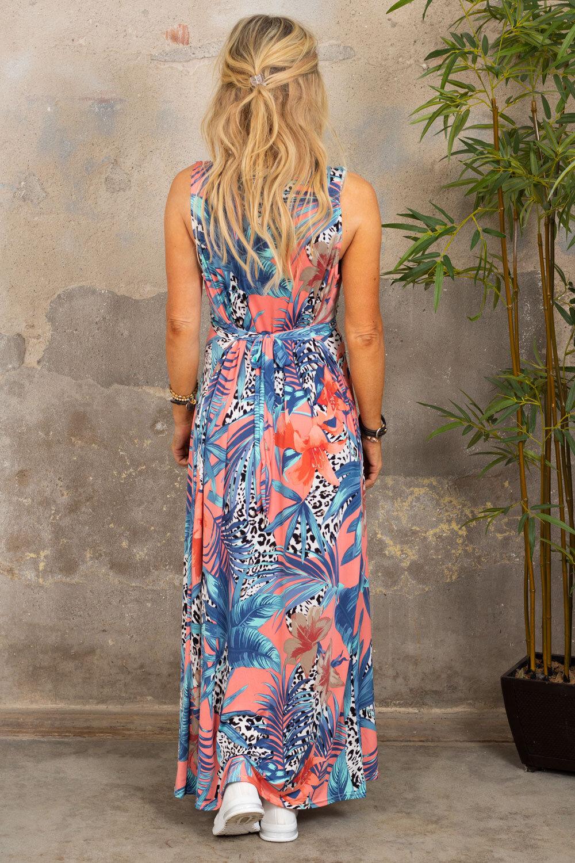 Ofelia lang kjole - Tropical & Leo - Corall