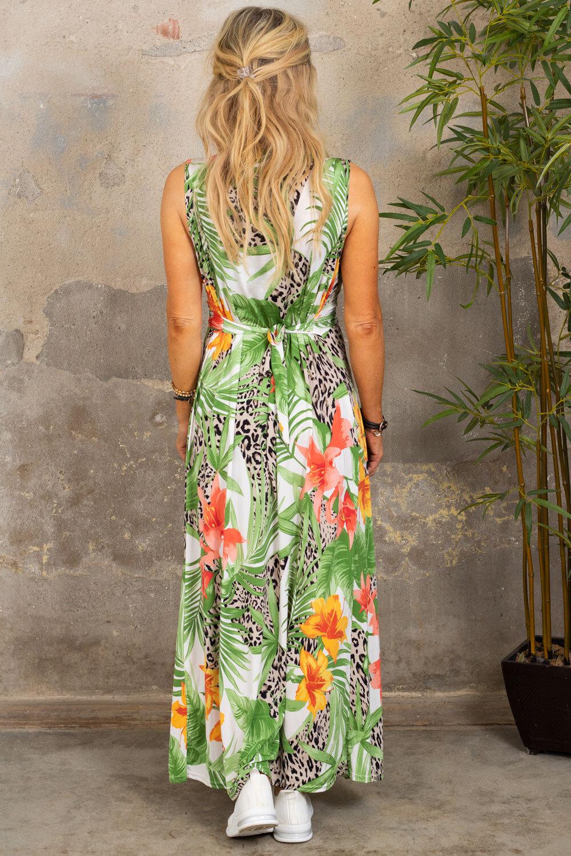 Ofelia lang kjole - Tropical & Leo - Cream
