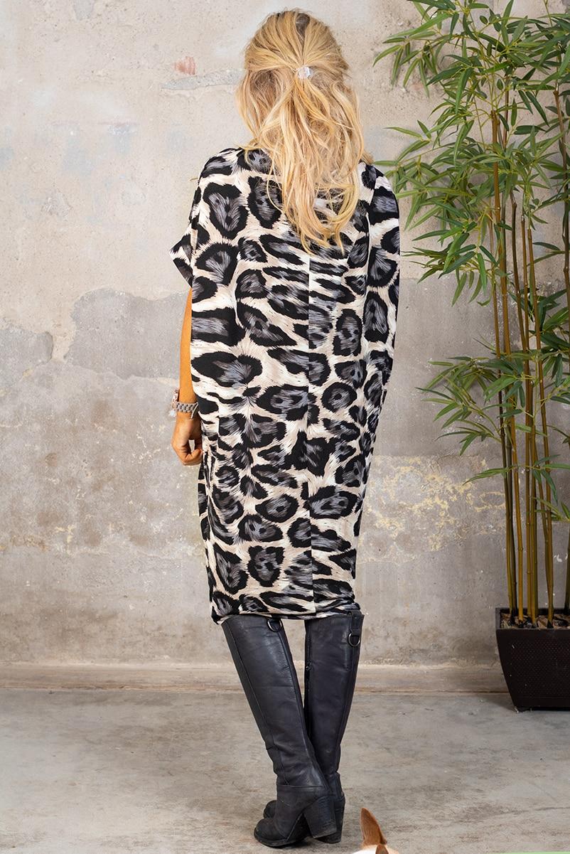 Deliah klanning - Leopardmonstrad - Gra bak