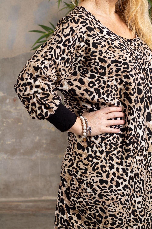 Gina kjole - Leo & Cuff - Svart / Beige