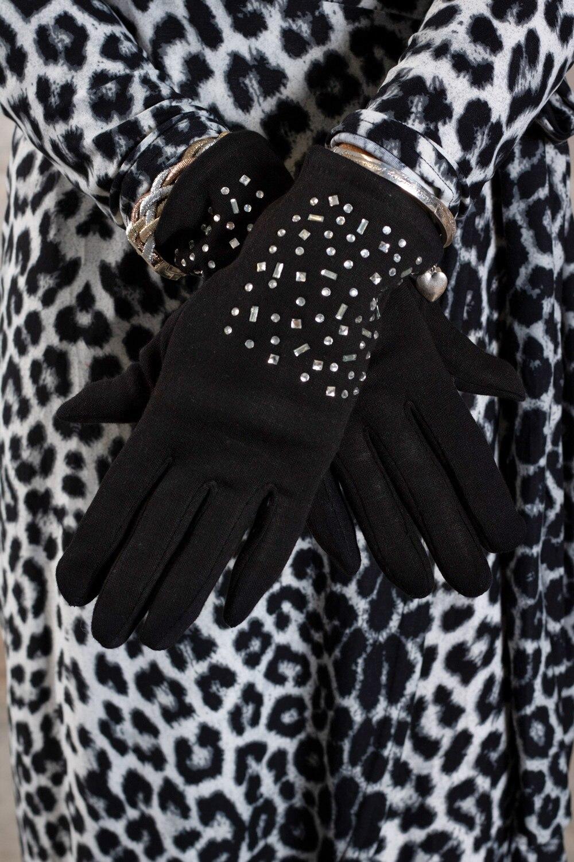 Handskar-med-Bling-stjärna---Svartljus