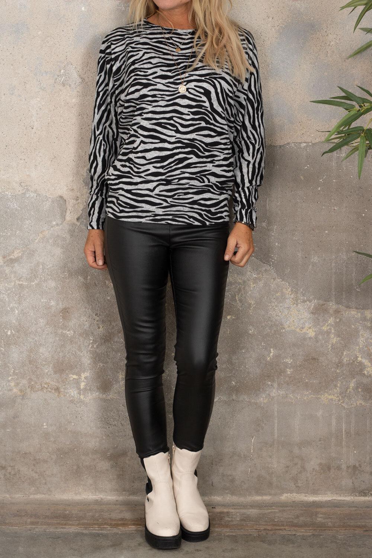 Harper genser med sebramønster - Grå