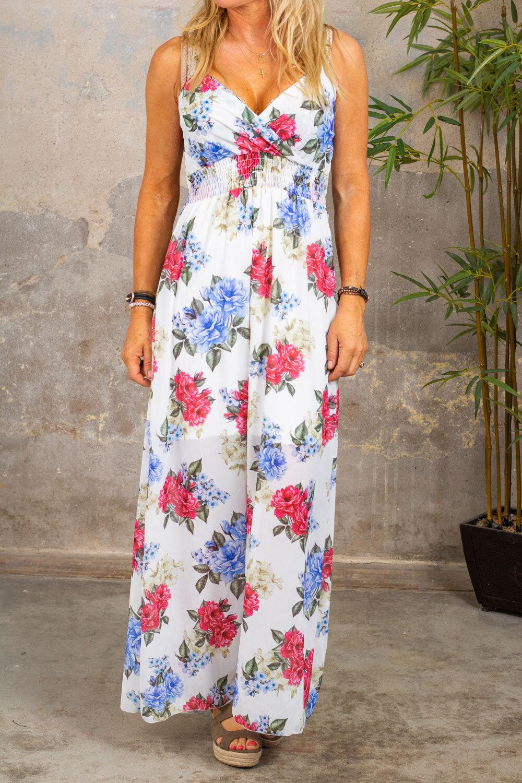Hilma Lang kjole - Smock & Floral - Hvit