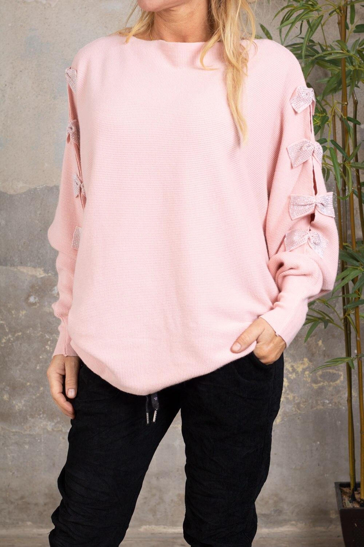Isolde-Finstickad-troja---Bling-rosetter---rosa-fram
