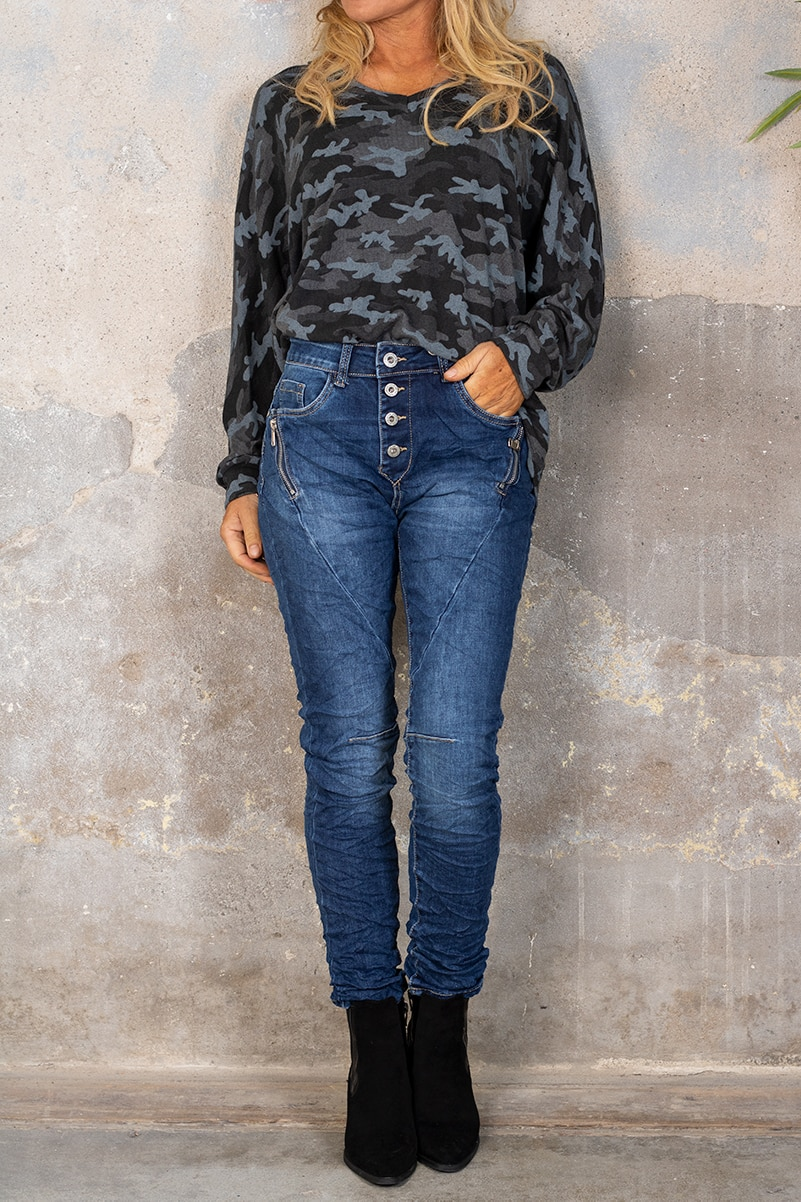 Jeans JW1559 - Dragkedjor - Denim hel