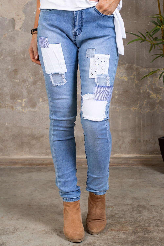 Jeans med flekker - JW9158 - Lett vask
