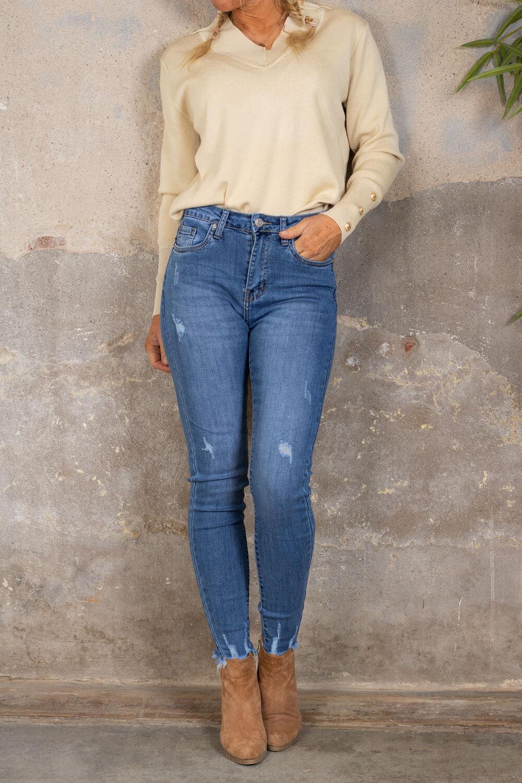 Jeans med tårer - C112 - Denim