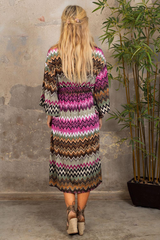 Julia kjole - Zigzag & Smock - Multi