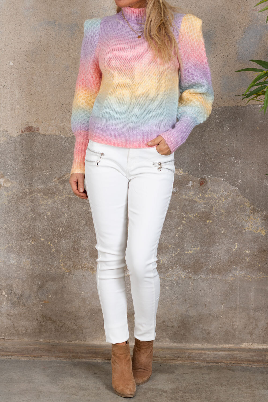 Voksede bukser CL1503 - Glidelåser - Off White