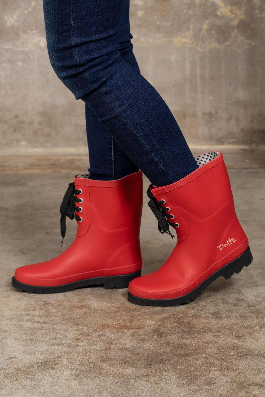 Lave gummistøvler - Rød