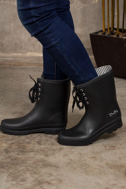 Lave gummistøvler - Svart