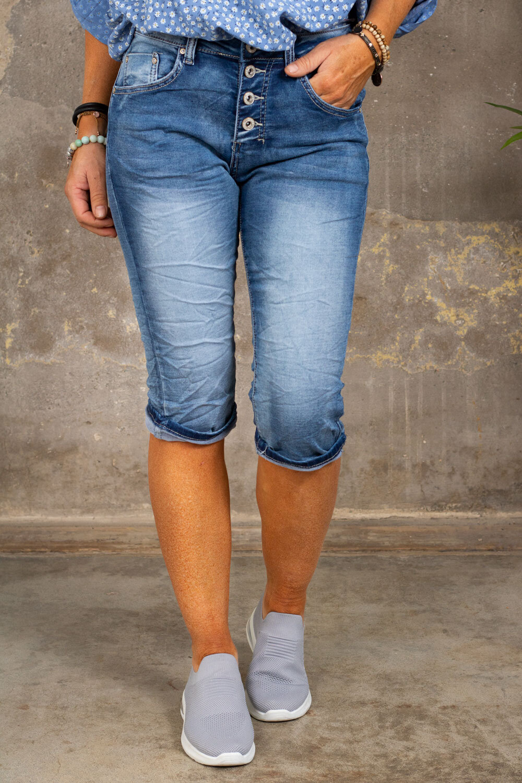 Lange jeansshorts 1268-B - Denim