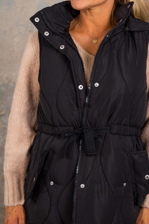 Libby foret vest - slips - svart