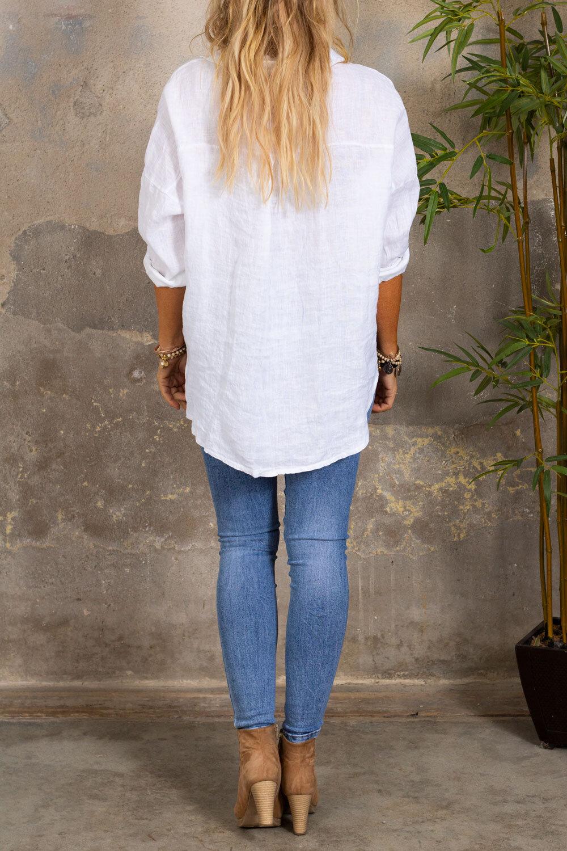 Mabel linskjorte - Hvit