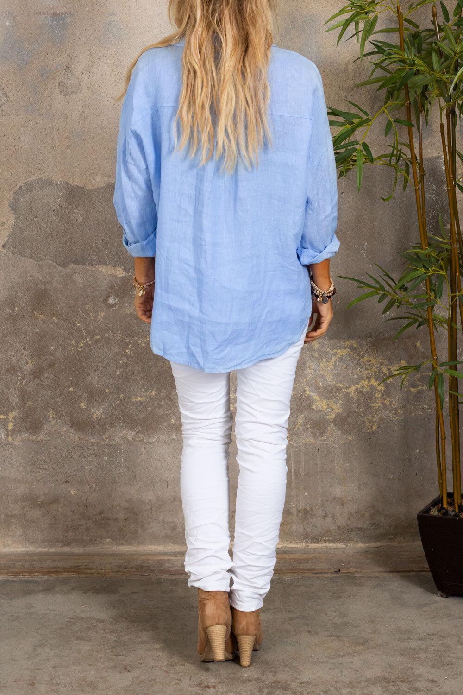 Mabel linskjorte - Dusty Blue