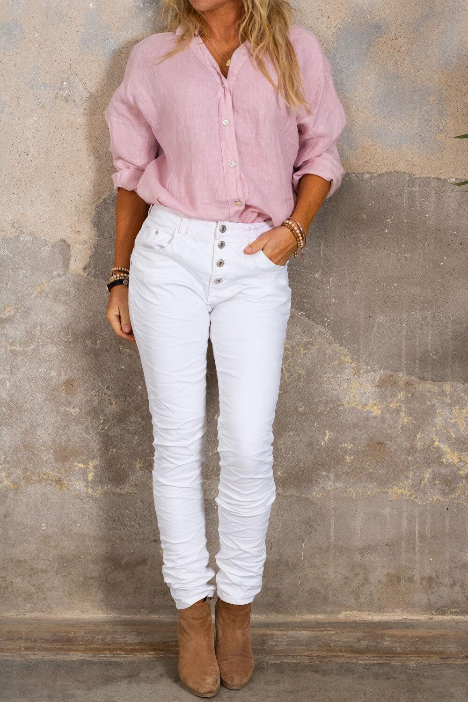 Mabel linskjorte - Rosa