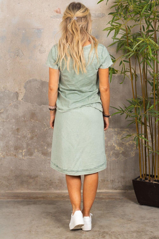 Marina - T-skjorte med V-hals - Khaki