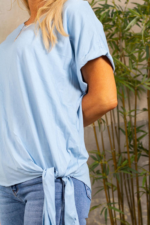Minna Tie-T-shirt- Sky blue