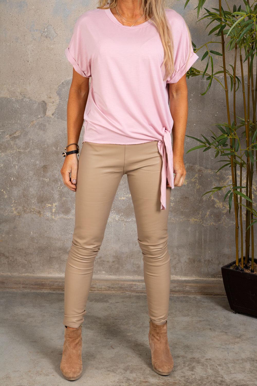 Minna Tie-T-shirt- Rosa