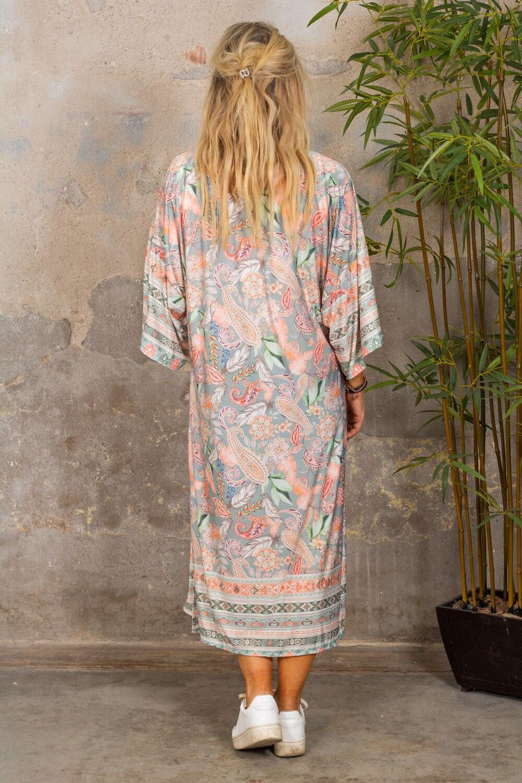 Myk Kimono - Paisley - Khaki