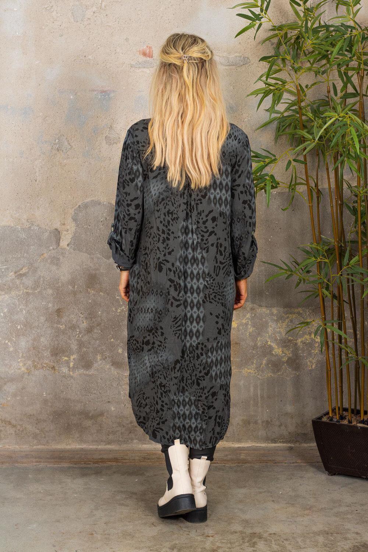 Nadja Lang skjorte - Mønstret - Grå