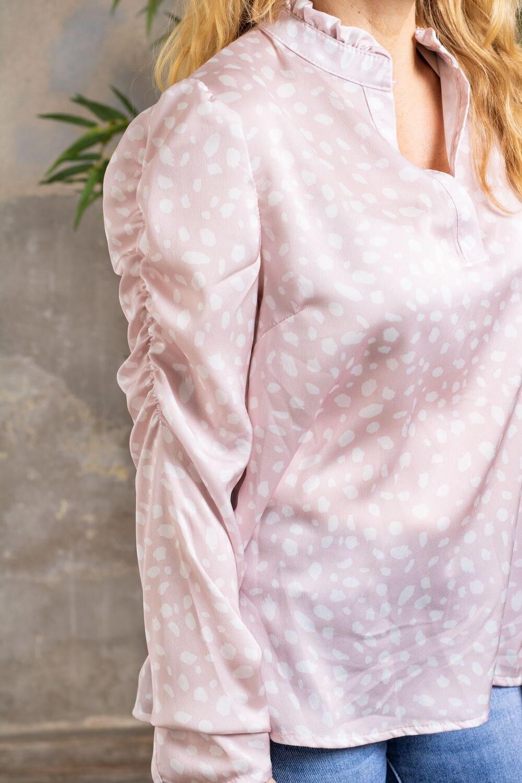 Nanne bluse - Prikket - Rosa