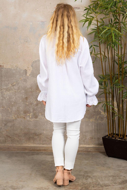 Petra-bluse - Blonder - Hvit