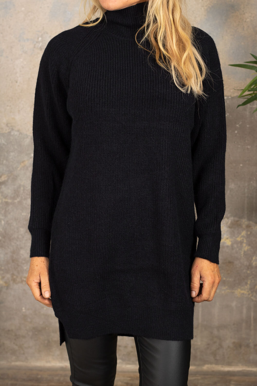 Pixie langstrikket genser - Svart
