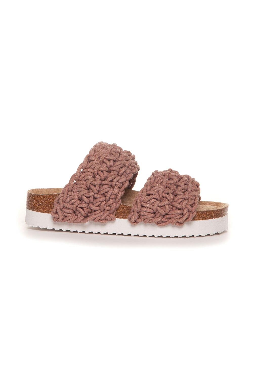 Sandal Flettet - Gammelrosa