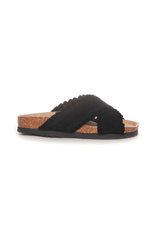 Sandal Ruffles - Svart