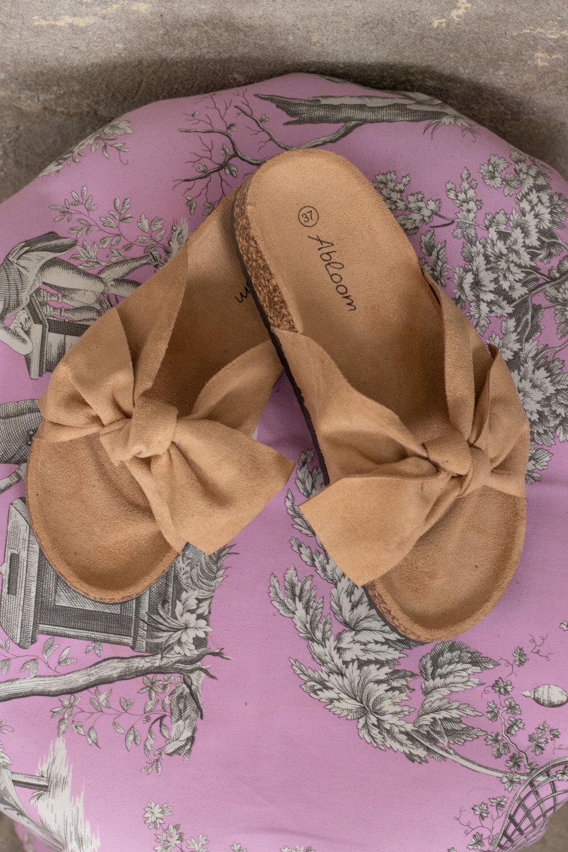 Sandaler med rosett - 231 - Beige