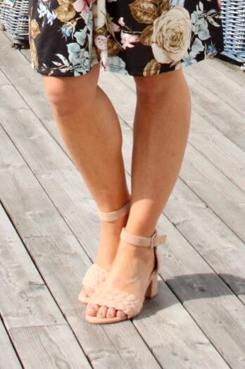 Sandal høy hæl - Nude