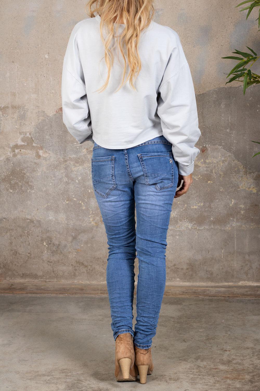 Selma myk genser - knute - lys grå