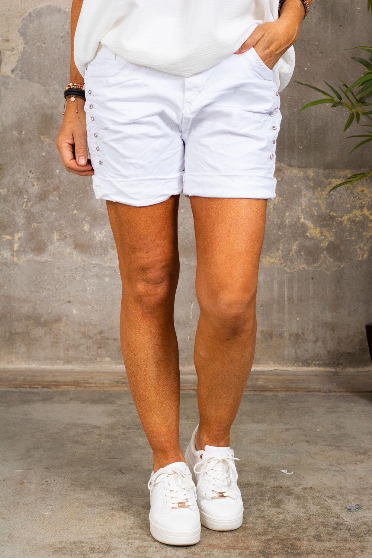 Shorts S8017 - Bling - Hvit