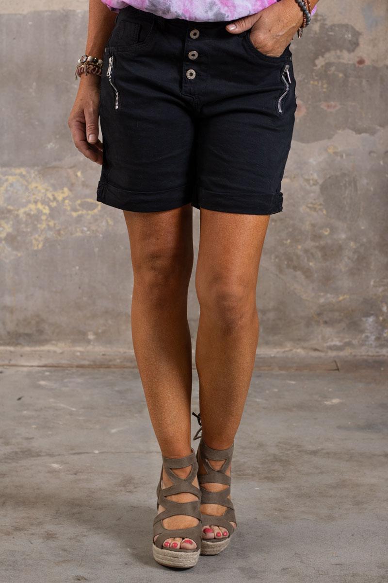 Shorts-med-Dragkejda---S18216---Svart-fram