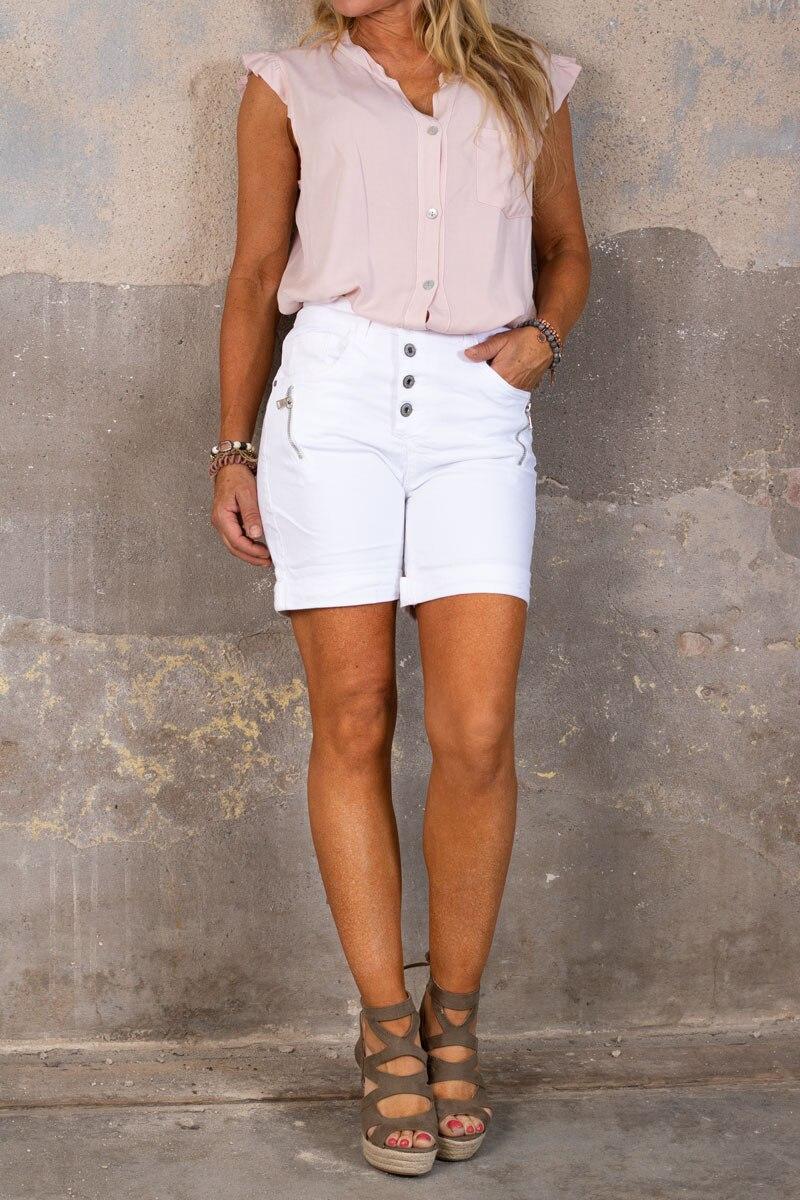 Shorts-med-Dragkejda---S18216---Vit-hel