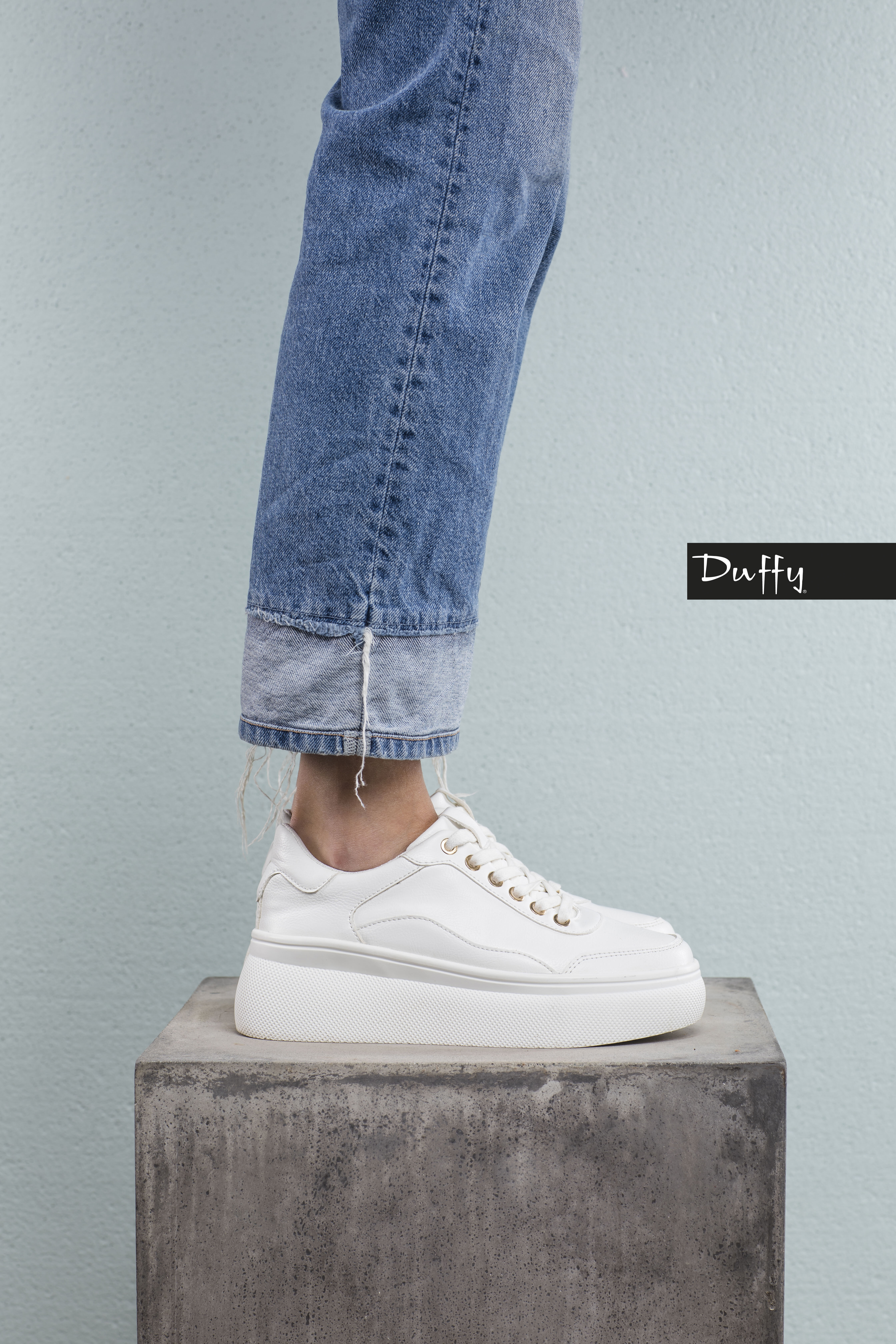 Sneakers Plateau - Hvit