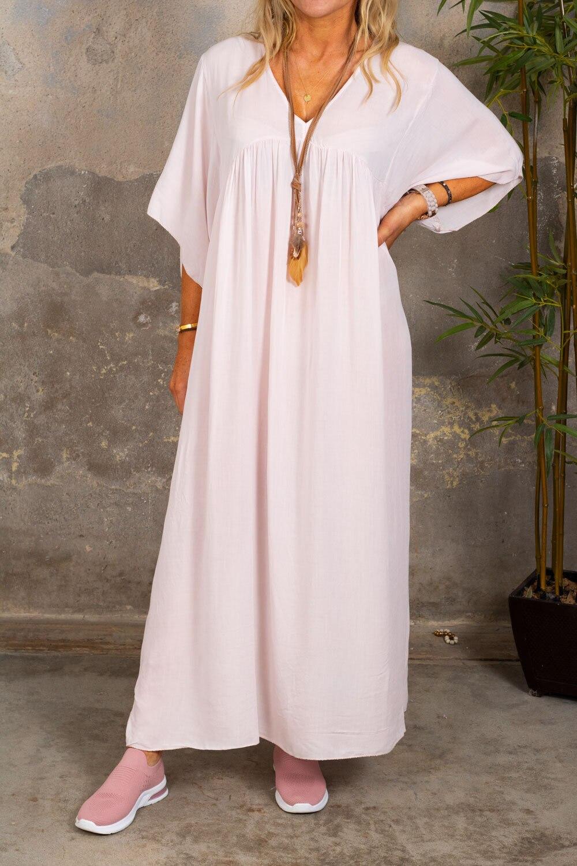 Stina myk kjole - Lyserosa