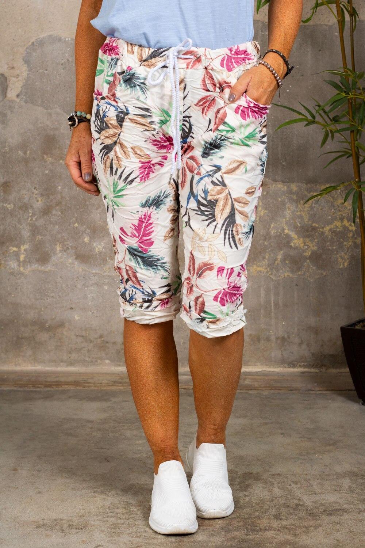 Stretch Shorts - Blad - Cream