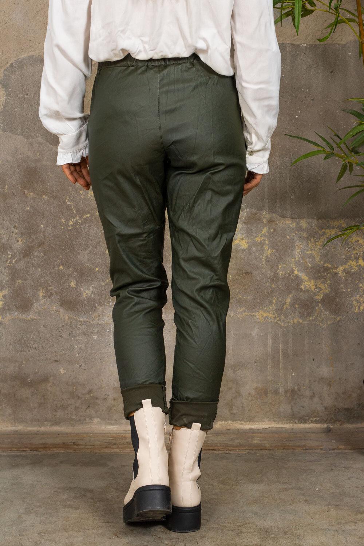 Stretchbukser - vokset - Militærgrønn