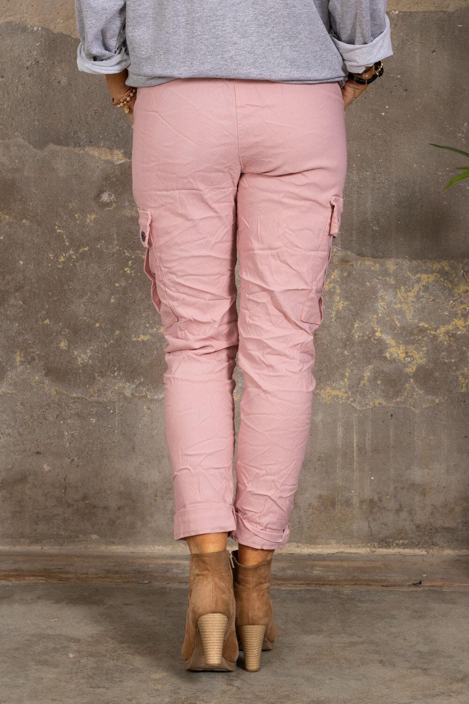 Stretchiga Cargo bukse - Rosa