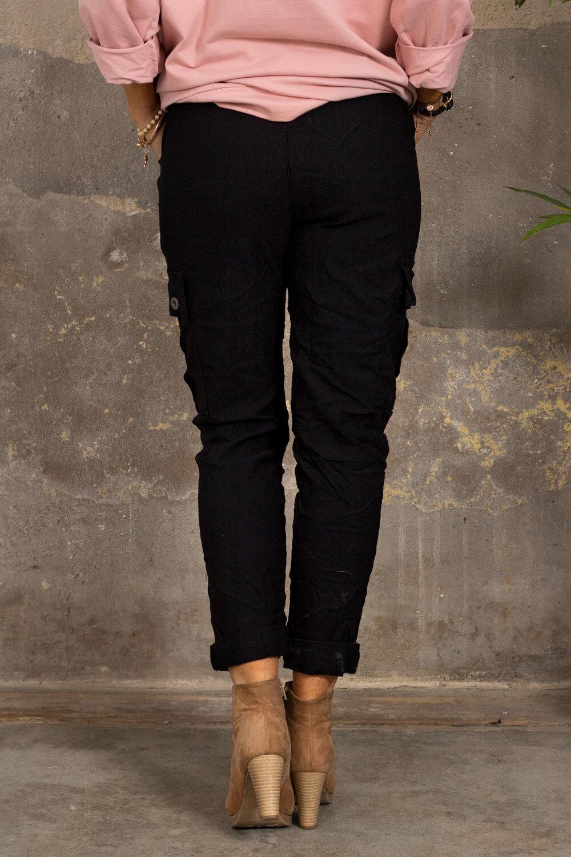 Stretchiga Cargo bukse - Svart