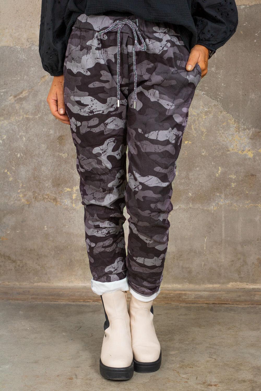Elastiske bukser 21901 - Kamuflasje - Grå